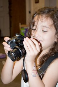 My daughter Layla acquired my old camera when I upgraded. She instantly ran the batteries dead and nearly filled the 8GB SD Card.