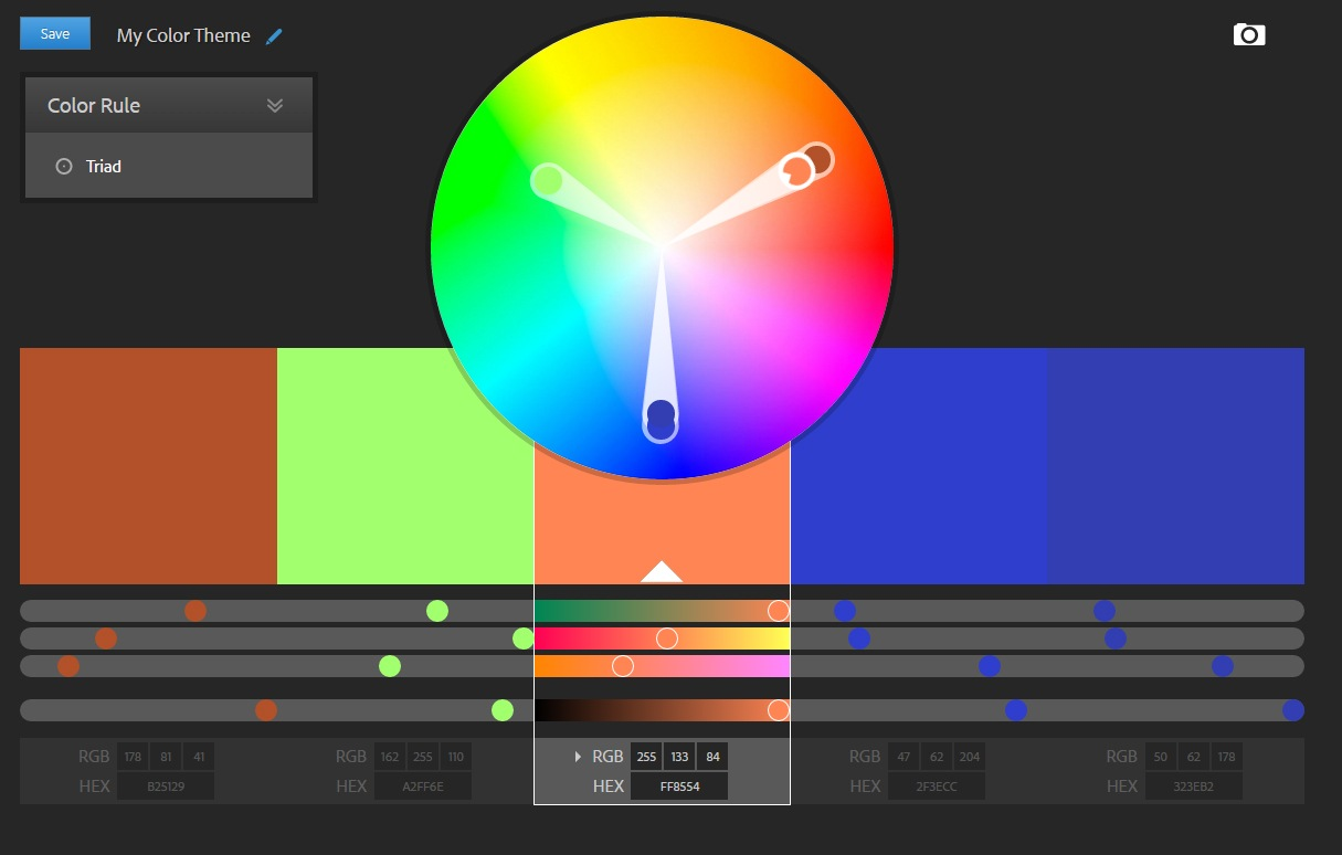 Adobe color scheme tool