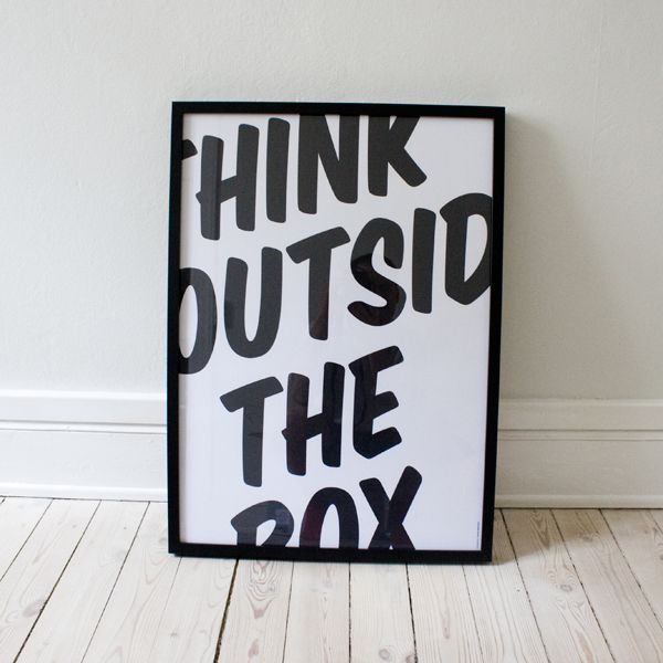 "Very literal ""Think outside the box"" I believe came from https://vi.sualize.us/sentence_haha_cute_spruch_yea_picture_tBqL.html"