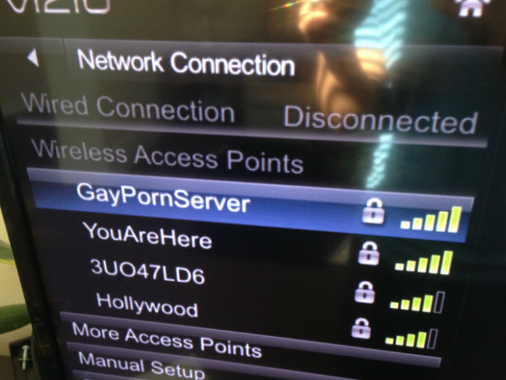 eww ... the password is probably something gay ...