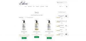 Eden Skin Care Website