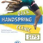 Letter back handspring clinic